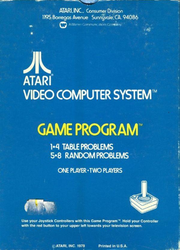 Atari 2600 VCS Basic Math : scans, dump, download, screenshots, ads ...