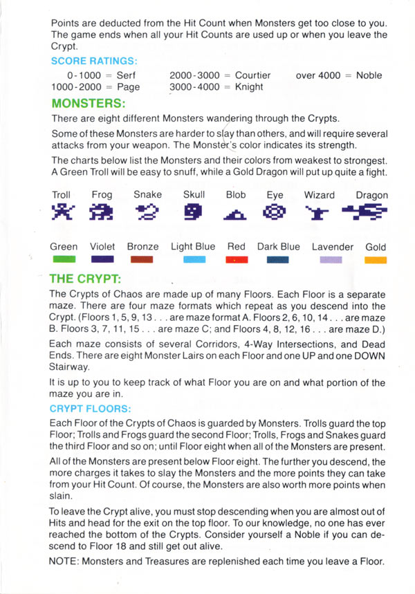 Atari 2600 Vcs Crypts Of Chaos Scans Dump Download Screenshots