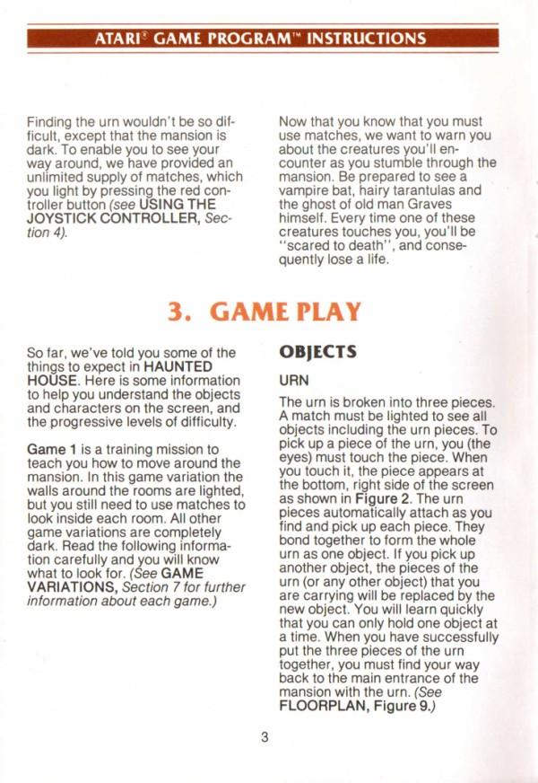 Atari 2600 Vcs Haunted House Scans Dump Download Screenshots