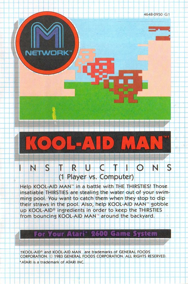 Atari 2600 Vcs Kool Aid Man Scans Dump Download Screenshots