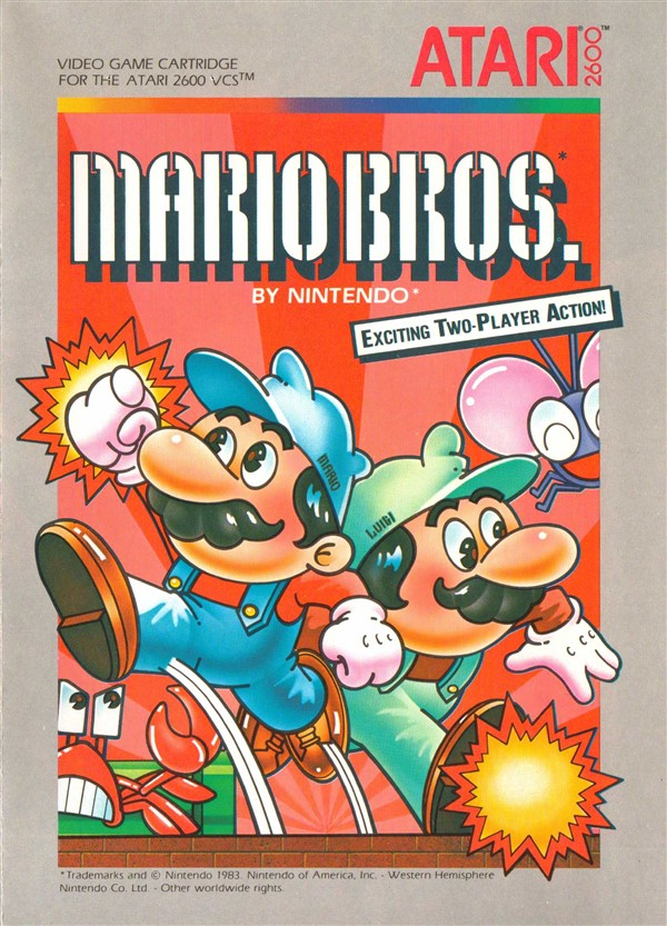 Atari 2600 VCS Mario Bros  : scans, dump, download, screenshots, ads