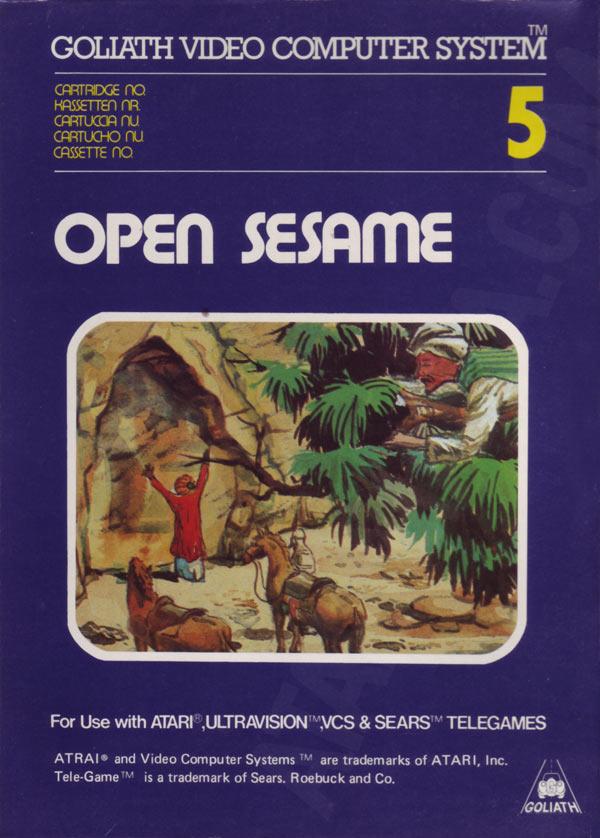 Atari 2600 Vcs Open Sesame Scans Dump Download