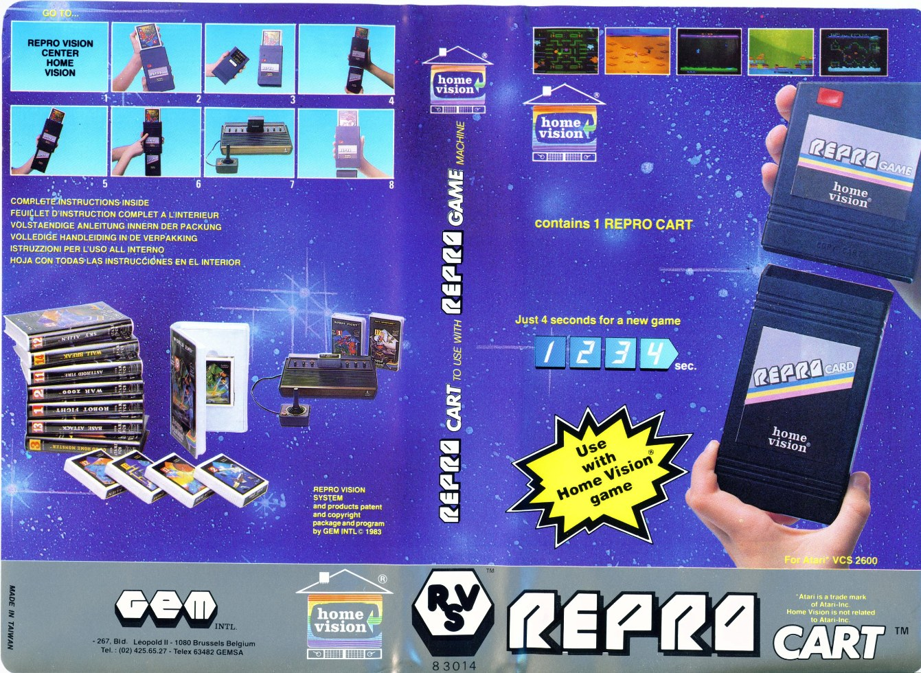 Atari 2600 VCS Repro Game Kit / Repro Cart / Repro Vision ...