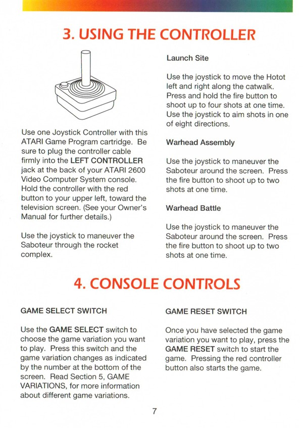 Atari 2600 Vcs Saboteur Scans Dump Download Screenshots Ads
