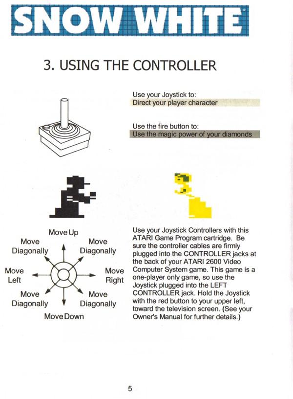 Atari 2600 Vcs Snow White Scans Dump Download Screenshots Ads