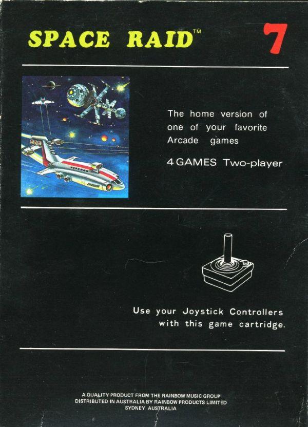 Atari 2600 Vcs Space Raid Scans Dump Download