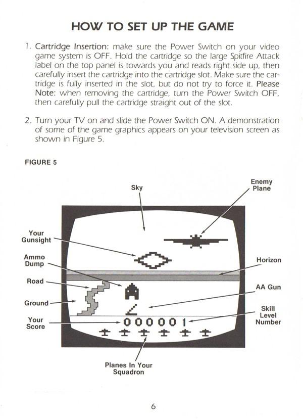 Atari 2600 VCS Spitfire Attack : scans, dump, download, screenshots