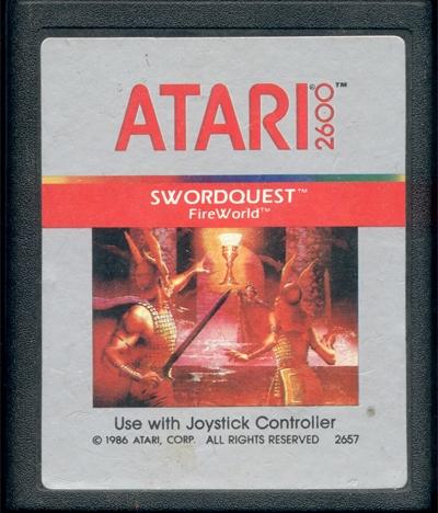 Atari 2600 Vcs Swordquest Fireworld Scans Dump