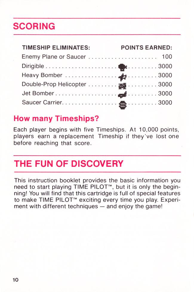 Atari 2600 Vcs Time Pilot Scans Dump Download Screenshots Ads