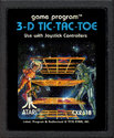 3-D Tic-Tac-Toe Atari cartridge scan