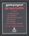 Air-Sea Battle Atari cartridge scan