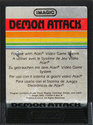 Demon Attack Atari cartridge scan