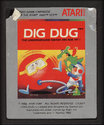 Dig Dug Atari cartridge scan