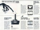 E.T. - The Extra-Terrestrial Atari instructions