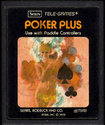 Poker Plus Atari cartridge scan