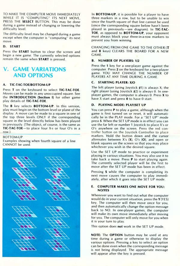 Atari 400 800 Xl Xe 3 D Tic Tac Toe Scans Dump Download