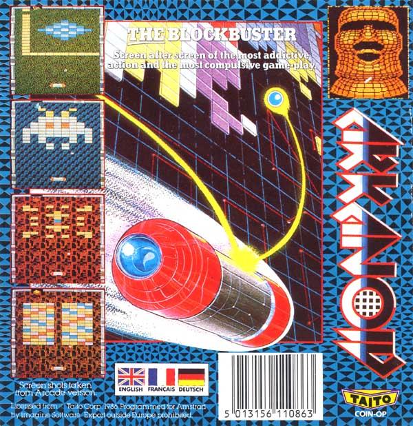 Atari 400 800 XL XE Arkanoid : scans, dump, download ...