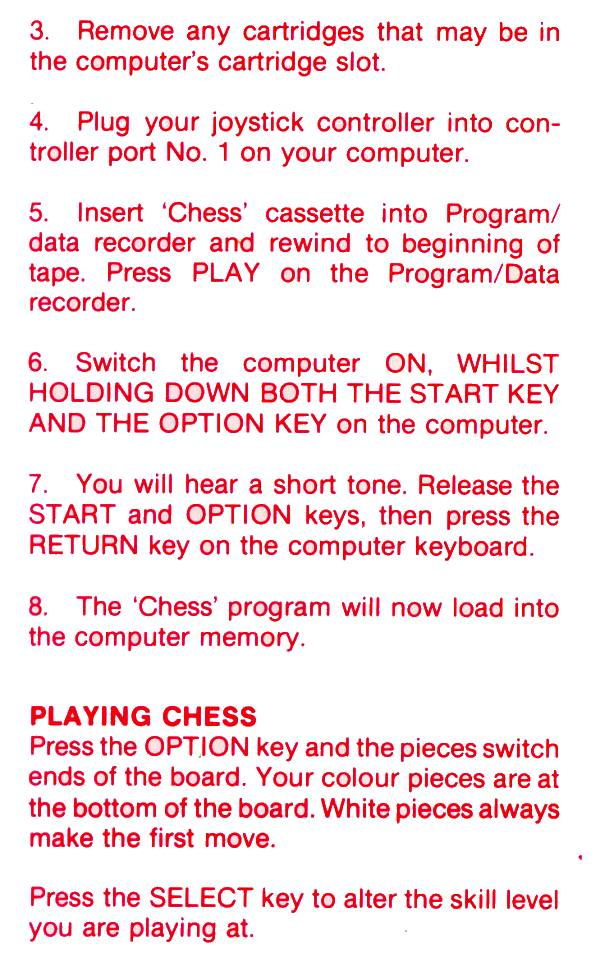 Atari 400 800 Xl Xe Computer Chess Scans Dump Download