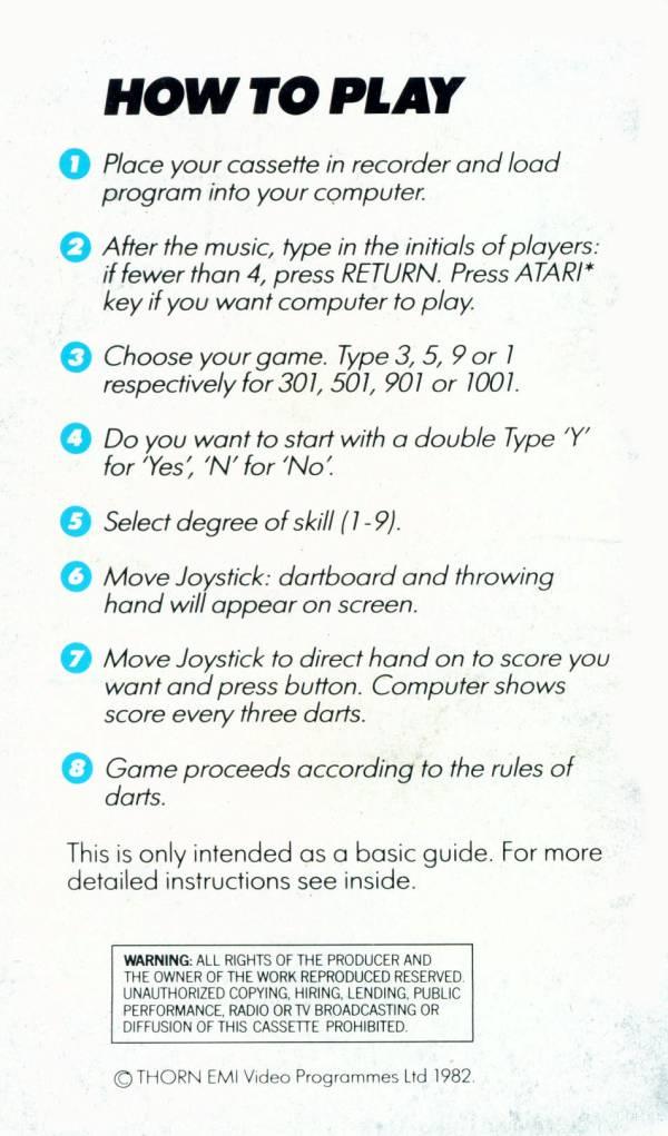 Atari 400 800 Xl Xe Darts Scans Dump Download Screenshots Ads