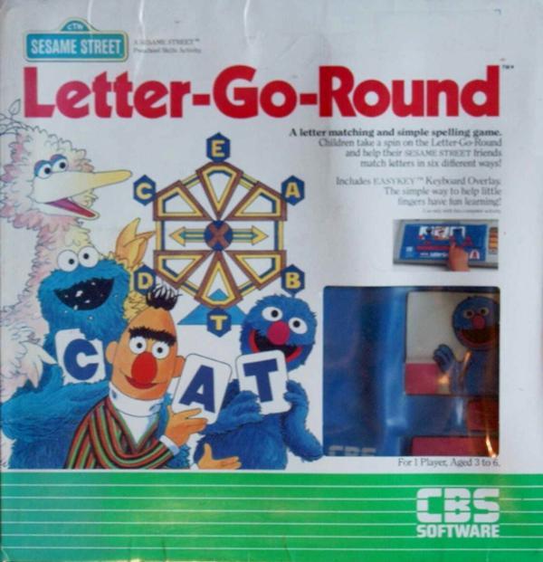 Atari 400 800 XL XE Sesame Street Letter-Go-Round : scans