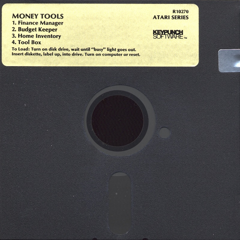 Atari 400 800 XL XE Money Tools : scans, dump, download