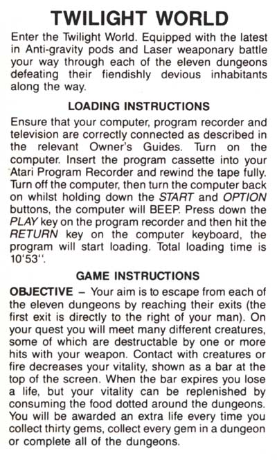 twilight the game instructions