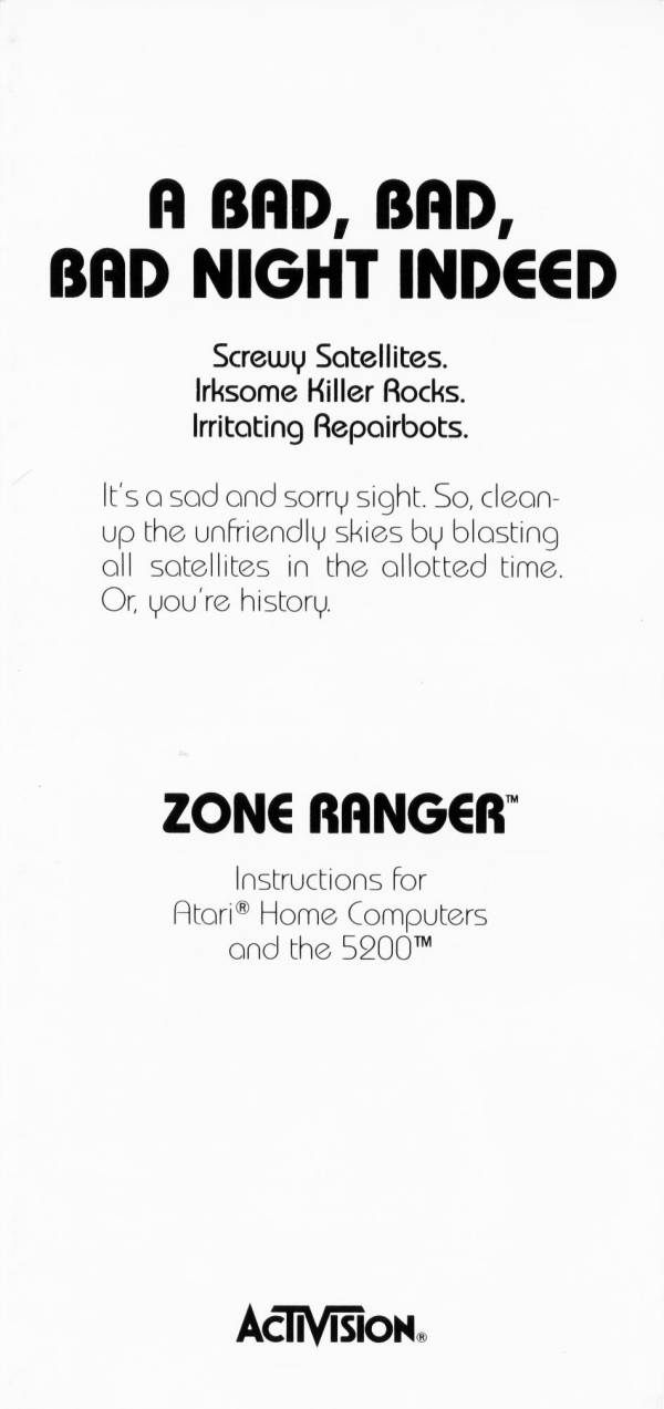 Atari 400 800 Xl Xe Zone Ranger Scans Dump Download Screenshots