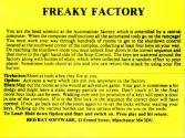 Freaky Factory Atari instructions
