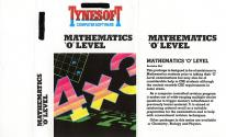 Mathematics 'O' Level Atari tape scan