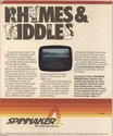 Rhymes and Riddles Atari disk scan