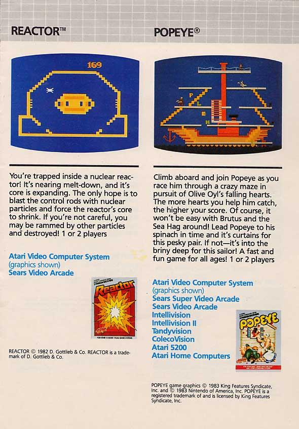 Atari 400 800 XL XE catalog - Parker Brothers (USA) - 1983 - English
