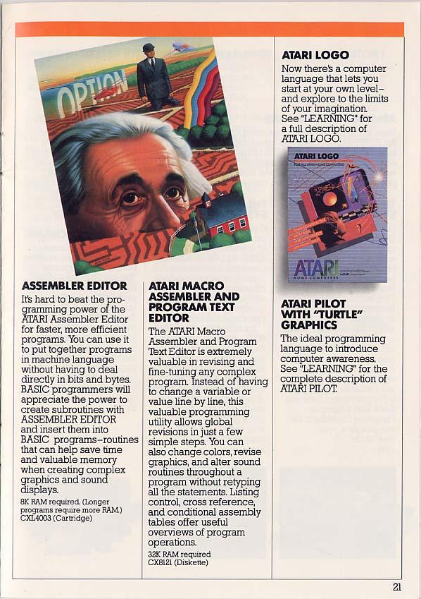 Atari 400 800 XL XE catalog - Atari (USA) - English