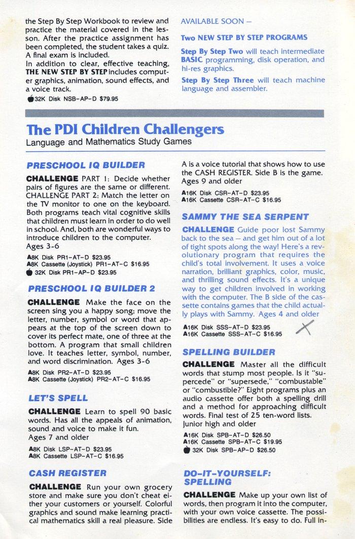 Atari 400 800 XL XE catalog - PDI - 1981 - English