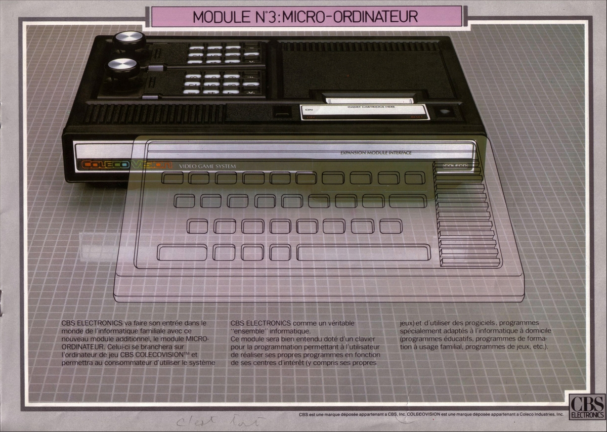 Atari 2600 VCS catalog - CBS Electronics - 1983 - French