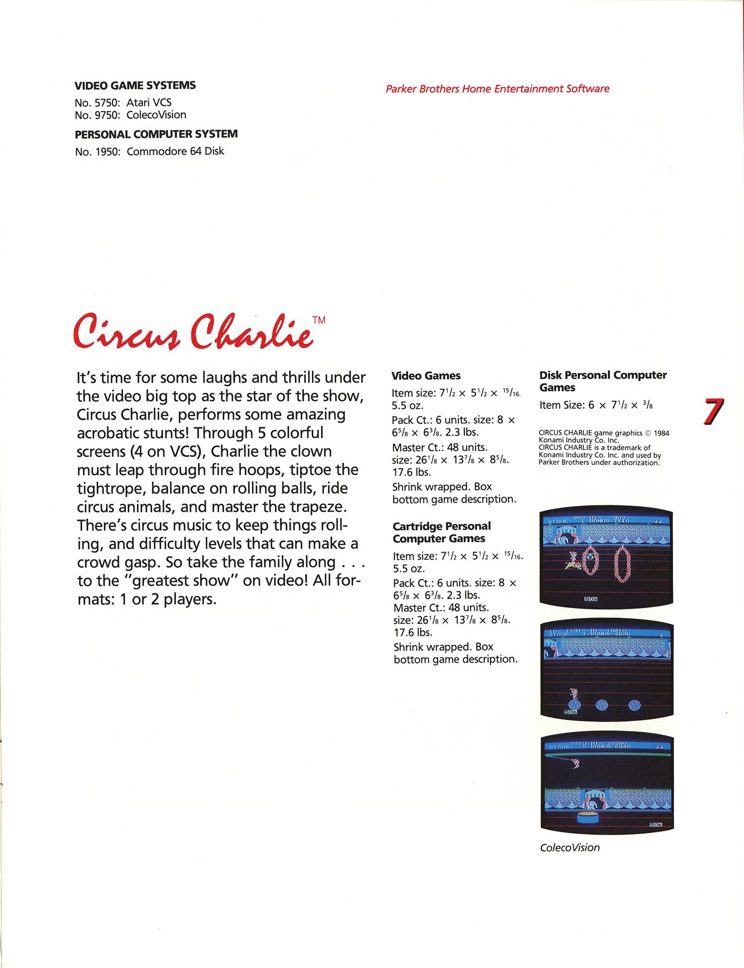 Circus charlie (japan) nintendo (nes) game.