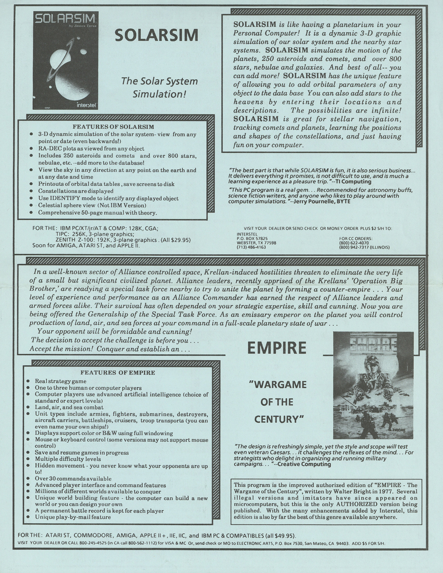 Atari ST Empire - Wargame of the Century : scans, dump, download