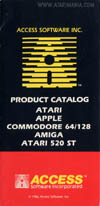 Atari Access Software  catalog