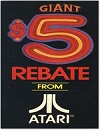 Giant $5 Rebate From Atari Other Documents
