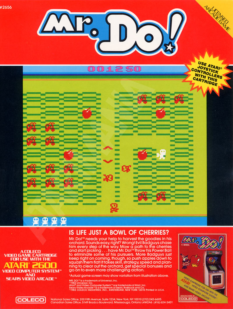 Atari 2600 VCS Mr. Do! : Scans, Dump, Download