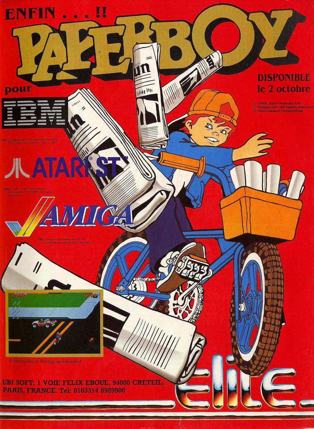 Paperboy Atari ad
