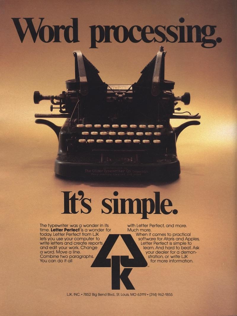 Atari 400 800 XL XE Letter Perfect : scans, dump, download