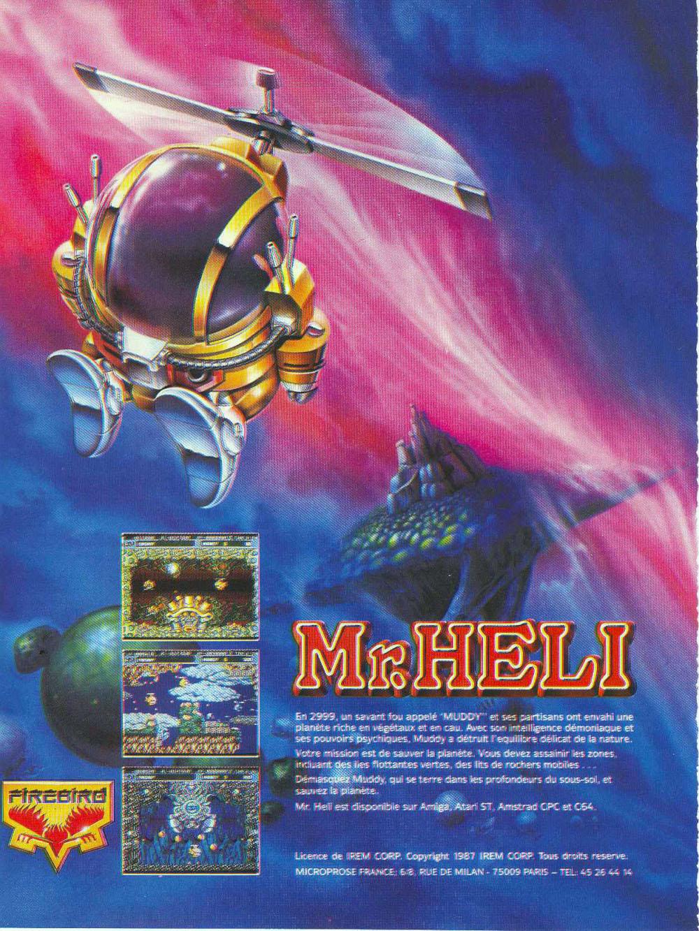 Atari ST Mr  Heli : scans, dump, download, screenshots, ads, videos