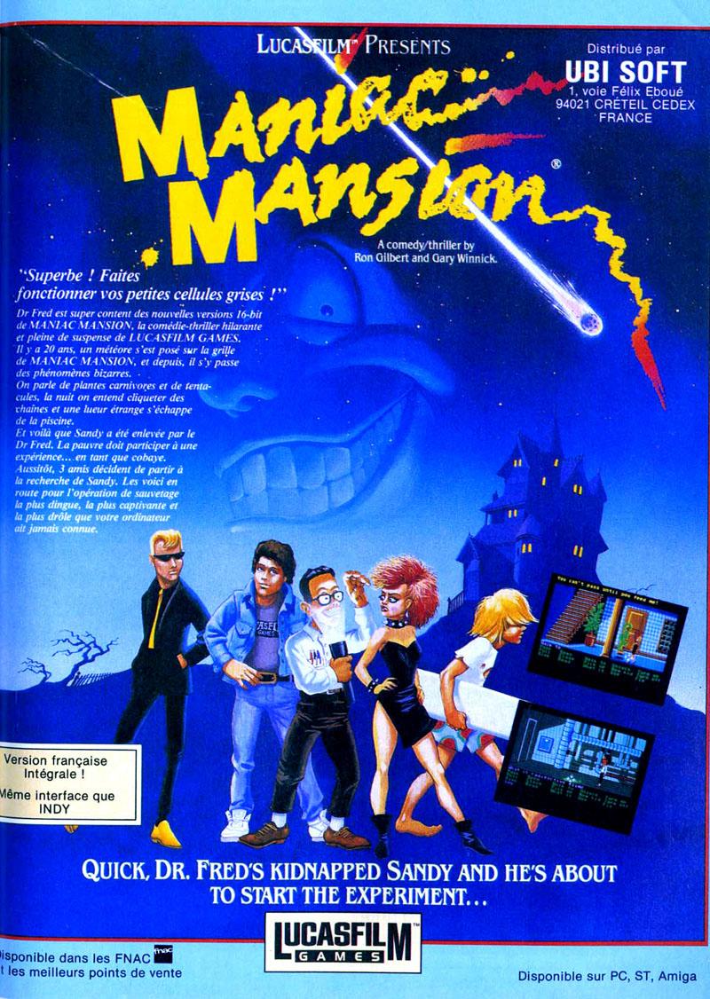 Atari ST Maniac Mansion : scans, dump, download, screenshots
