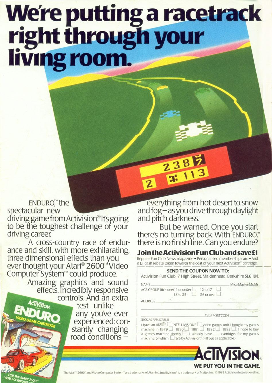 Atari 2600 Vcs Mr Do Scans Dump Download: Atari 2600 VCS Enduro : Scans, Dump, Download, Screenshots