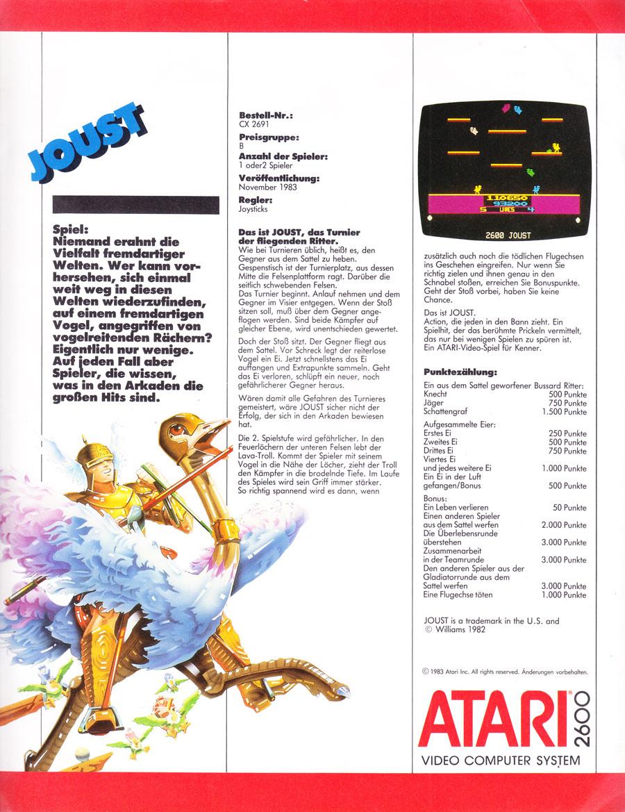Atari 2600 VCS Ads - Atari (Germany)- German - Page 1