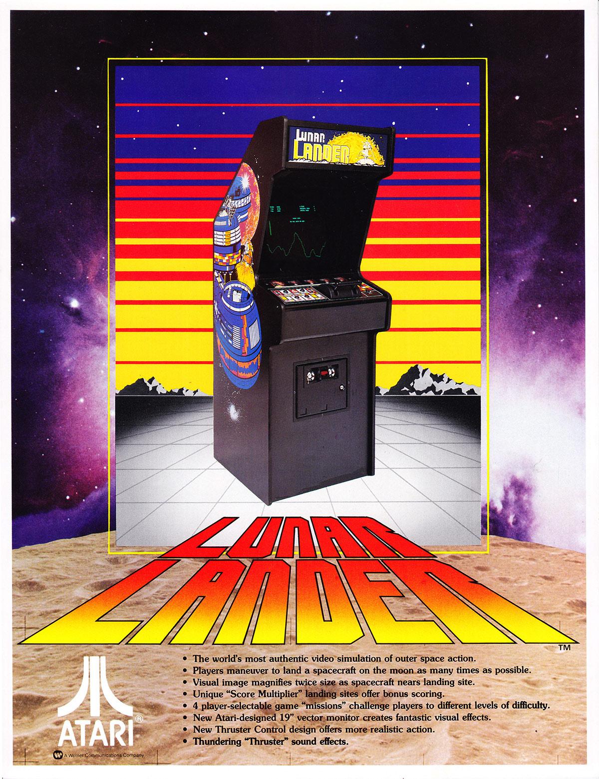 Atari lunar lander: scans, dump, download, screenshots, ads.