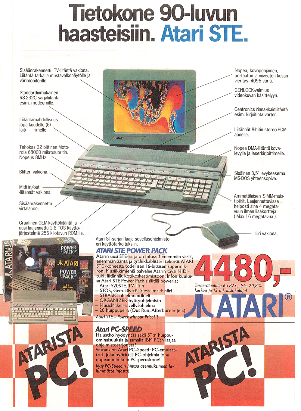Atari St Atari 520stfm Power Pack Scans Dump Download Screenshots Ads Videos Catalog