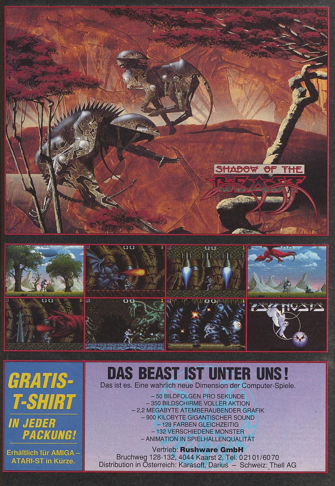 Atari ST Shadow of the Beast : scans, dump, download, screenshots ...