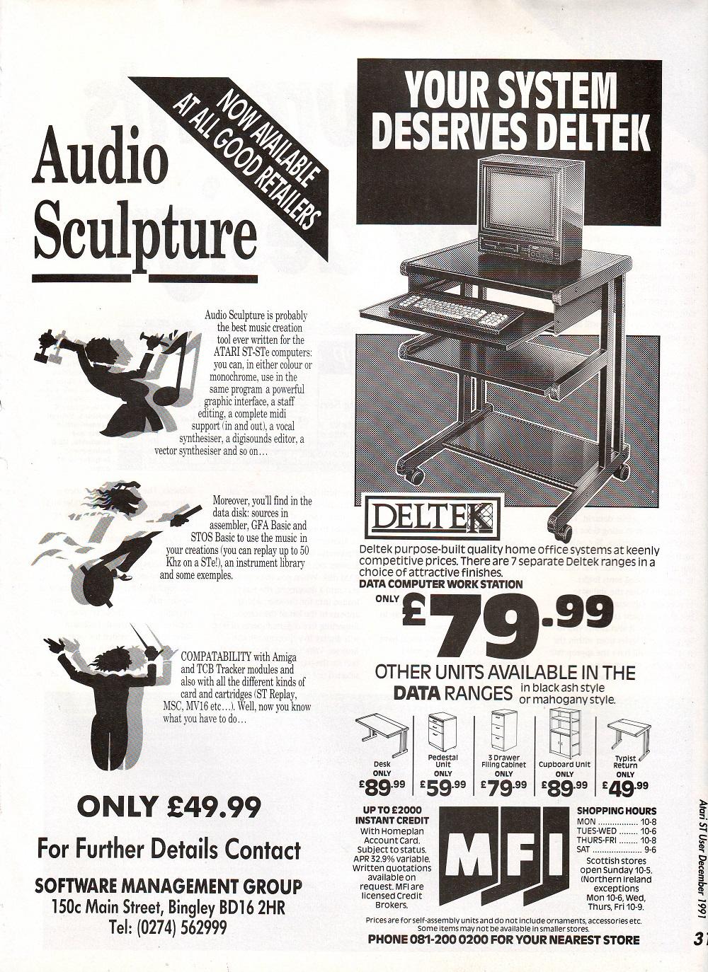 Atari ST Audio Sculpture : scans, dump, download, screenshots, ads