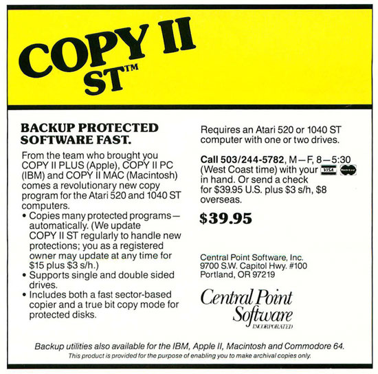 GFA Draft//CAD for Atari 520//1040 ST NEW